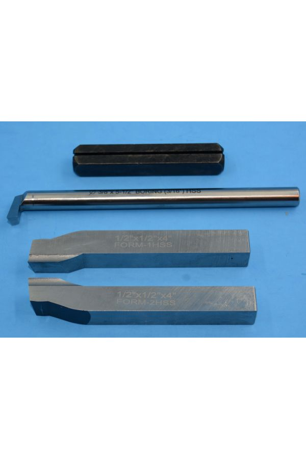 """TURNING AND BORING TOOL SET HSS FOR 3 IN 1 MACHINES 1/2"""""""