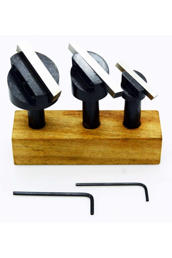 FLY CUTTER SET FOR BENCH MILL 3 PIECES WITH TOOL STEEL 1/2 SHANK