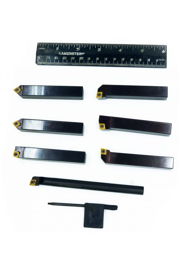 INDEXABLE CARBIDE TURNING TOOL SET FOR MEDIUM LATHE1/2 inch