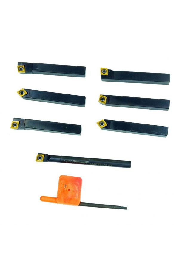 INDEXABLE CARBIDE TURNING TOOL SET FOR MINI LATHE