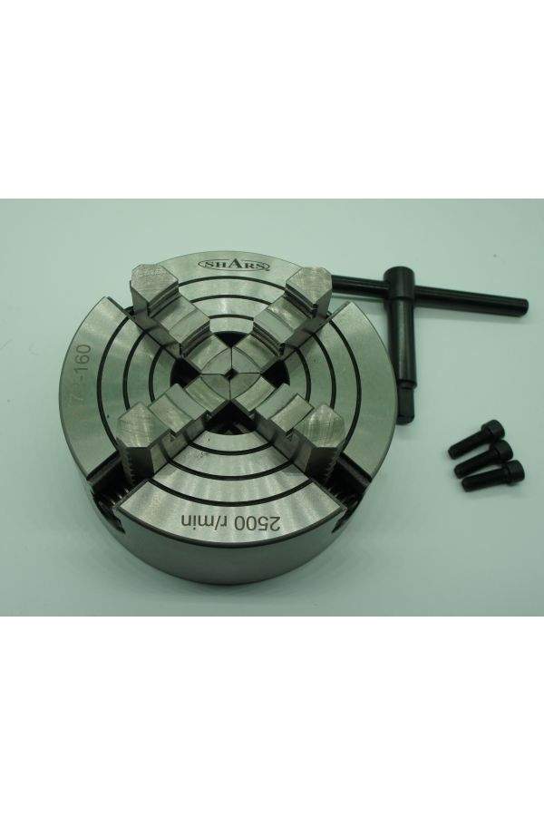 """4 JAW CHUCK 6"""" WITH REVERSIBLE INDEPENDENT JAWS"""