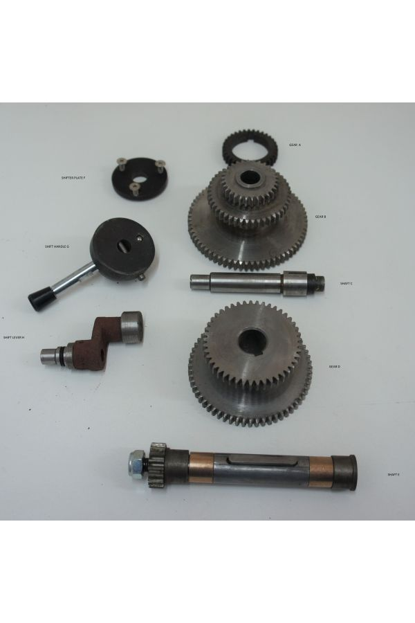 LATHE GEARBOX ASSEMBLY COMPLETE- HIGH LOW GEAR DRIVE SYSTEM WITH SHIFTER