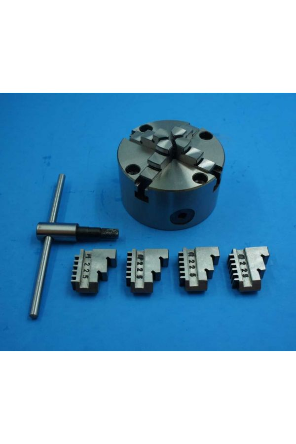 80 MM 4 JAW CHUCK WITH SPECIAL ADAPTER PLATE AND CLAMPS FOR ROTARY TABLE